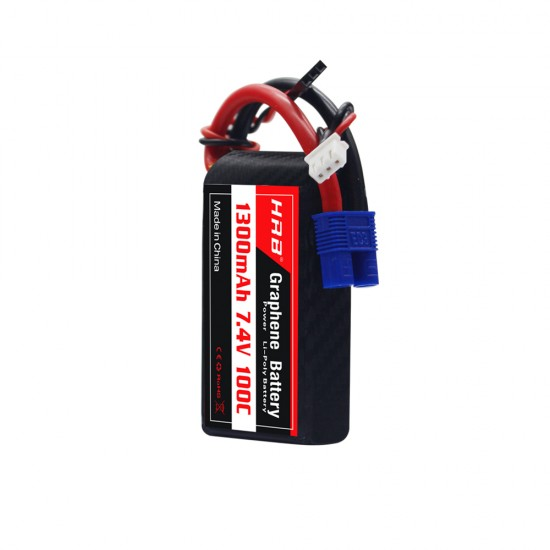 HRB Graphene 2S 1300 7.4V 100C  Lipo Battery EC3