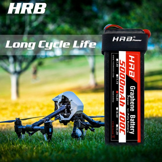 HRB Graphene 4S 5000 14.8V 100C Lipo Battery EC5