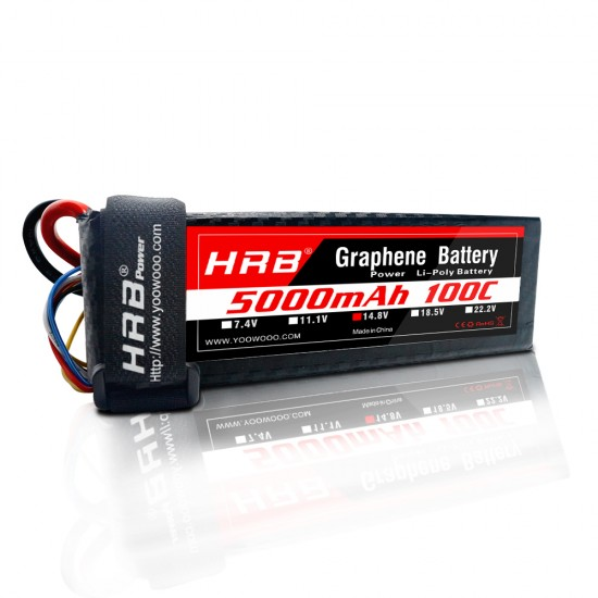 HRB Graphene 4S 5000 14.8V 100C Lipo Battery TRX