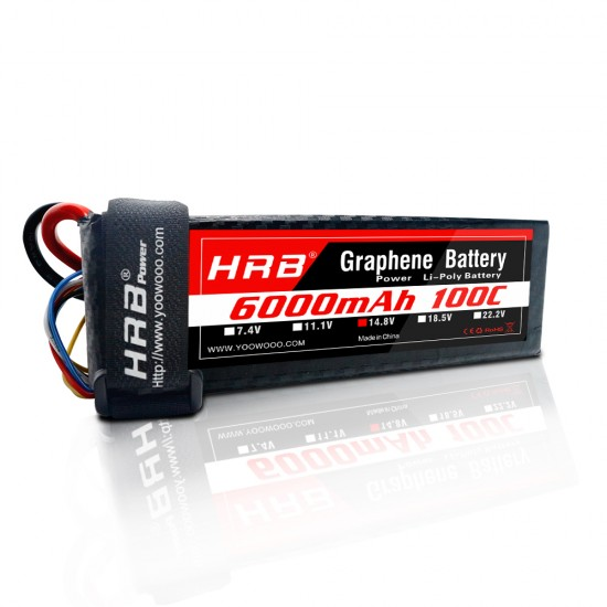 HRB Graphene 4S 6000 14.8V 100C Lipo Battery TRX