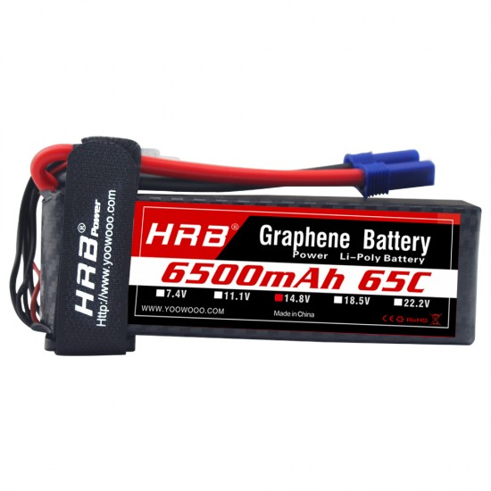 HRB Graphene 4S 6500 14.8V 65C Lipo Battery EC5