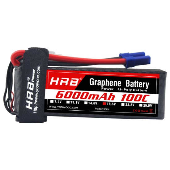 HRB Graphene 5S 6000 18.5V 100C Lipo Battery EC5
