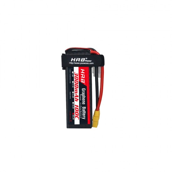 HRB Graphene 6S 3000 22.2V 100C Lipo Battery EC5