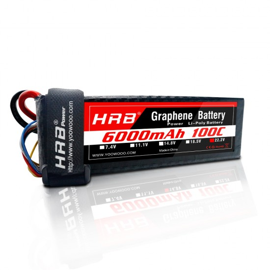 HRB Graphene 6S 6000 22.2V 100C Lipo Battery EC5