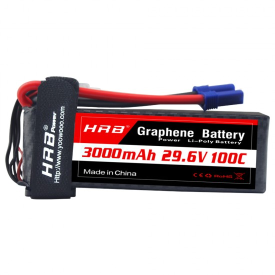 HRB Graphene 8S 3000 29.6V 100C Lipo Battery EC5